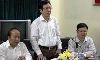 Tổng Giám đốc Đài Tiếng nói Việt Nam Nguyễn Đăng Tiến làm việc với cơ quan thường trú tại TPHCM
