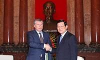 Chủ tịch nước Trương Tấn Sang tiếp Tổng Thư ký Ủy ban Năng lượng quốc gia Liên bang Nga