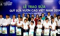Hơn 72.000 ly sữa được trao cho trẻ em tỉnh Quảng Trị