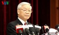 Ngày làm việc đầu tiên Hội nghị lần thứ 14 Ban Chấp hành Trung ương Đảng khóa XI