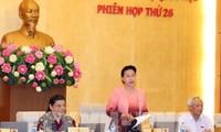 Khai mạc phiên họp thứ 26 Ủy ban thường vụ Quốc hội