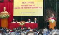 Phó thủ tướngVũ Đức Đam dự hội nghị triển khai công tác văn hóa, thể thao và du lịch năm 2019