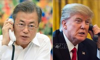 Tổng thống Trump điện đàm với Tổng thống Hàn Quốc về kết quả Hội nghị Thượng đỉnh Hoa Kỳ - Triều Tiên lần hai