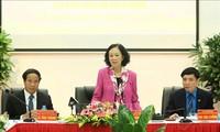 Trưởng ban Dân vận Trung ương Trương Thị Mai làm việc tại Khu Kinh tế Hải Phòng