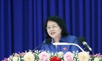 Phó Chủ tịch nước Đặng Thị Ngọc Thịnh dự lễ phát động phong trào thi đua tại Lai Châu
