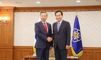 Bộ trưởng Công an Tô Lâm thăm và làm việc tại Hàn Quốc