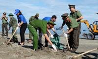 """Tuổi trẻ Quảng Nam làm sạch biển, nói """"không"""" với rác thải nhựa"""