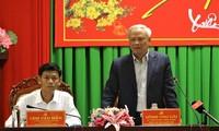 Phó Chủ tịch Quốc hội Uông Chu Lưu làm việc tại tỉnh Sóc Trăng