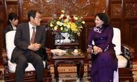 Phó Chủ tịch nước Đặng Thị Ngọc Thịnh tiếp Đại sứ Nhật Bản tại Việt Nam Umeda Kunio