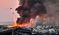Điện chia buồn về hai vụ nổ tại cảng Beirut, Lebanon