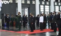 Chủ tịch Quốc hội Campuchia viếng nguyên Tổng Bí thư Lê Khả Phiêu