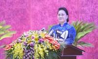 Chủ tịch Quốc hội: Hòa Bình cần dựa vào nhân dân để xây dựng Đảng