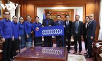 Đoàn Thanh niên Nhân dân Cách mạng Lào ủng hộ đồng bào miền Trung Việt Nam