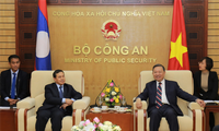 Bộ trưởng Bộ Công an Tô Lâm tiếp Đại sứ Cộng hòa dân chủ nhân dân Lào