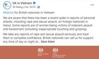 Việt Nam luôn coi trọng công tác đảm bảo an ninh cho người dân và cộng đồng người nước ngoài ở Việt Nam