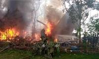 Điện chia buồn về việc máy bay của quân đội Philippines gặp nạn