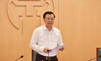 Bí thư Thành ủy Hà Nội: Nâng mức nguy cơ kịch bản chống dịch COVID-19