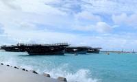Gần 700 ngư dân vào âu tàu, làng chài huyện đảo Trường Sa tránh trú áp thấp nhiệt đới
