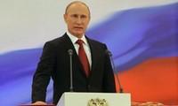 Presiden Rusia Vladimir Putin melakukan kunjungan di Jerman