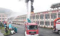 Mencanangkan Pekan Nasional Keselamatan dan Kebersihan Kerja serta kebakaran dan peledakan