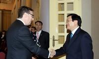 Presiden Vietnam Truong Tan Sang menerima Ketua Dewan Bisnis AS-ASEAN