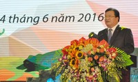 """Deputi PM Trinh Dinh Dung menghadadiri upacara pencanangan """"Bulan aksi demi lingkungan hidup"""" di propinsi Lao Cai"""