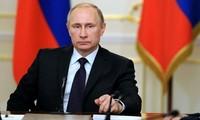 "Presiden Rusia, Vladimir Putin mencela tindakan ""eskpansionisme"" dari NATO"