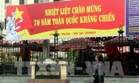 Kota Hanoi mengadakan aktivitas-aktivitas seni-budaya untuk memperingati ultah ke-70 Hari Perang Perlawanan Nasional
