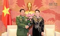 Ketua MN Vietnam, Nguyen Thi Kim Ngan menerima Jenderal Senior Myanmar, Min Aung Hlaing
