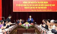 Ketua MN Vietnam, Nguyen Thi Kim Ngan melakukan temu kerja dengan pimpinan provinsi Dien Bien