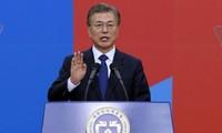 Republik Korea: Presiden Moon Jae-in menegaskan kembali komitmen akan menyelesaikan revisi UUD