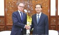 Presiden Vietnam, Tran Dai Quang menerima Dubes Slovakia dan Austria sehubungan dengan akhir masa baktinya di Vietnam