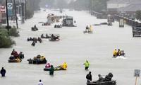 AS: Kota Houston memberlakukan jam malam pasca taupan Harvey