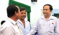 Ketua pengurus besar Front Tanah Air Vietnam, Tran Thanh Man melakukan temu kerja di  kota Can Tho
