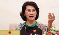 Ketua MN Nguyen Thi Kim Ngan menghadiri Konferensi Badan Harian Dewan Rakyat propinsi dan kota di daerah Nam Bo Timur