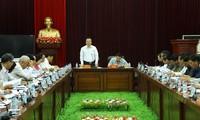 Wakil Ketua MN MN Vietnam, Phung Quoc Hien mengucapkan Hari Raya Tet di Provinsi Lai Chau
