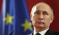 Presiden Rusia,  Vladimir Putin menegaskan makna Hari Kemenangan