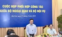 Koordinasi kerja antara Kementerian Luar Negeri dan Kementerian Dalam Negeri Vietnam