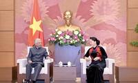 Ketua MN menerima Koordinator Tetap Pewakilan PBB dan Kepala Perwakilan UNICEF di Vietnam