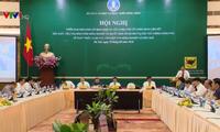 Konferensi online tentang penggelaran Peraturan Pemerintah 98 tentang kebijakan pengembangan koperasi