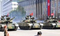 RDRK mengadakan pawai militer sehubungan dengan peringatan ultah ke-70 Hari Nasional