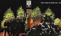 Upacara melayat Presiden Vietnam, Tran Dai Quang diadakan secara khitmad