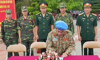 Pasukan penjaga perdamaian Vietnam berangkat melaksanakan tugasnya