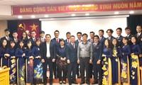 Pemimpin Pengurus Besar Liga Pemuda Komunis Ho Chi Minh bertemu dengan 28 pemuda Vietnam yang menghadiri program SSEAYP 45