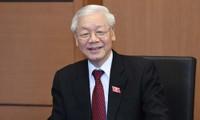 Pemimpin negara-negara terus mengucapkan selamat kepada Sekjen KS PKV, Presiden Nguyen Phu Trong