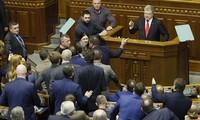 Parlemen Ukraina mengesahkan rekomendasi memberlakukan undang-undang darurat militer