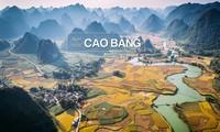 Keindahan yang megah dari Geopark Global  Gunung dan Sungai  Cao Bang