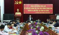 Deputi PM Vietnam, Vuong Dinh Hue melakukan temu kerja dengan pemimpin teras Provinsi Lai Chau