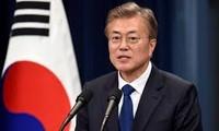 Presiden Republik Korea menunjukkan target-target komitmen pada tahun 2019