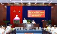 PM Vietnam, Nguyen Xuan Phuc melakukan temu kerja  dengan Provinsi Bac Lieu tentang situasi sosial-ekonomi